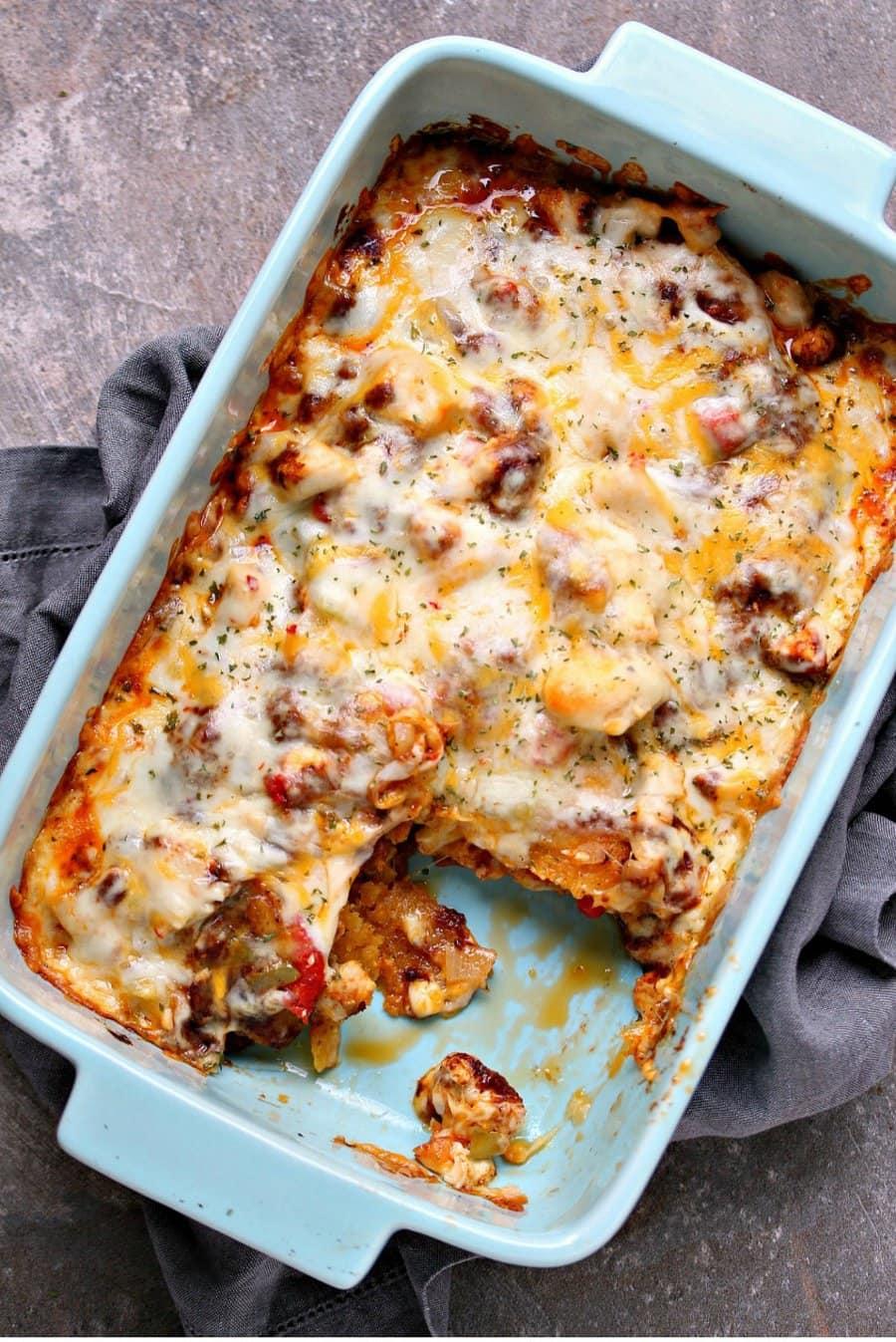 Chicken Enchilada Casserole | Cravings of a Lunatic