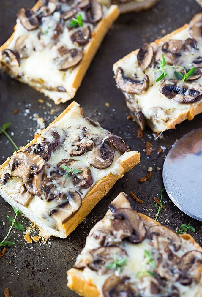 Cheesy Mushroom French Bread Pizza   The Blond Cook
