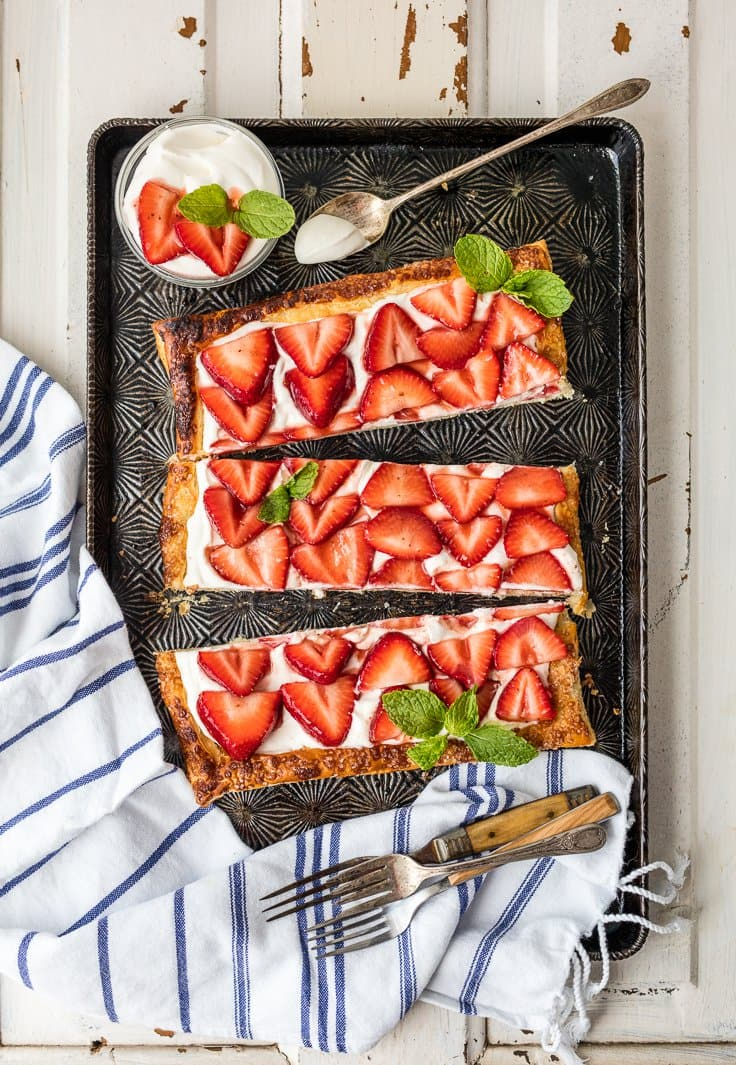 Easy Puff Pastry Strawberry Tart | The Cookie Rookie