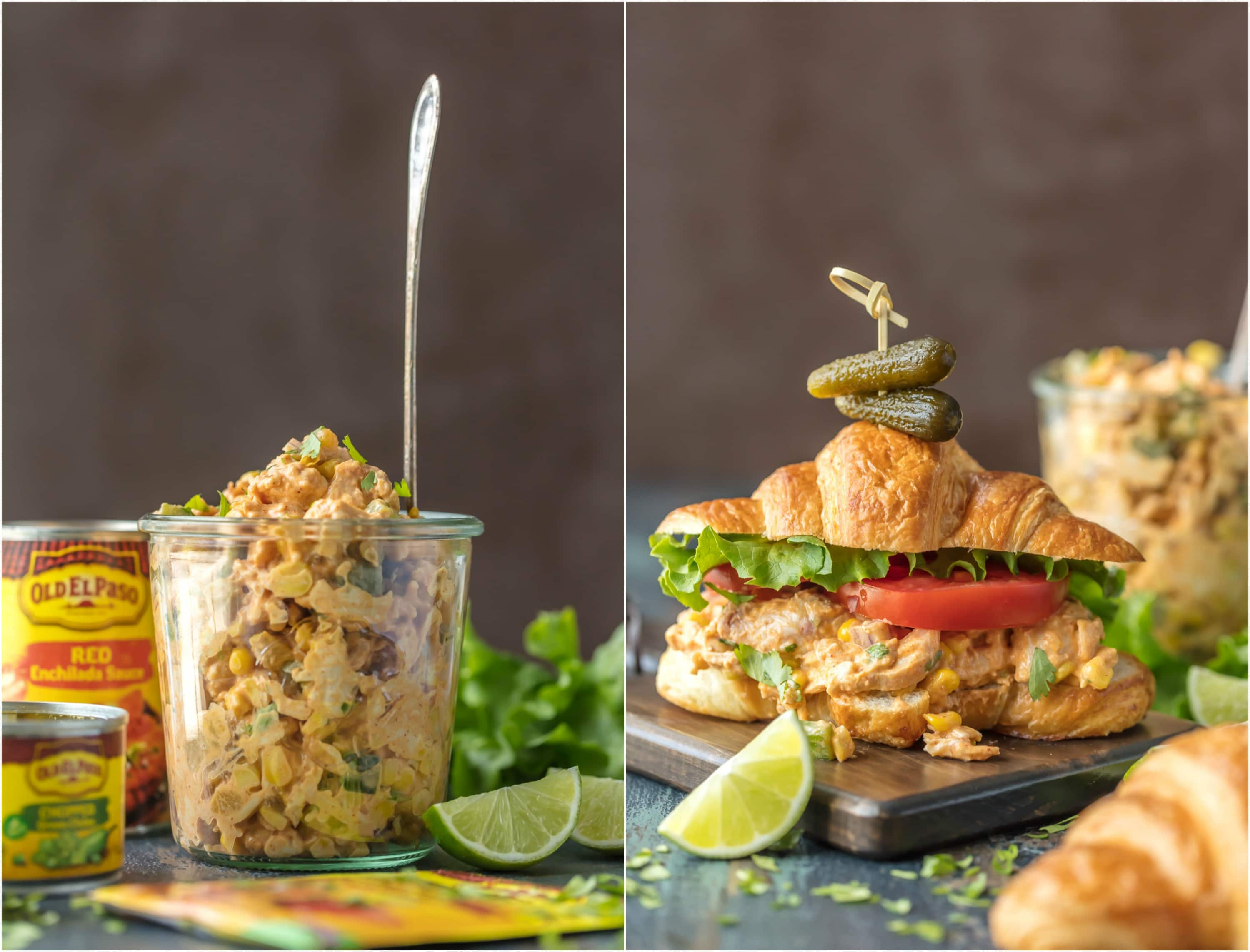 Mexican Chicken Salad and Chicken Salad Sandwich