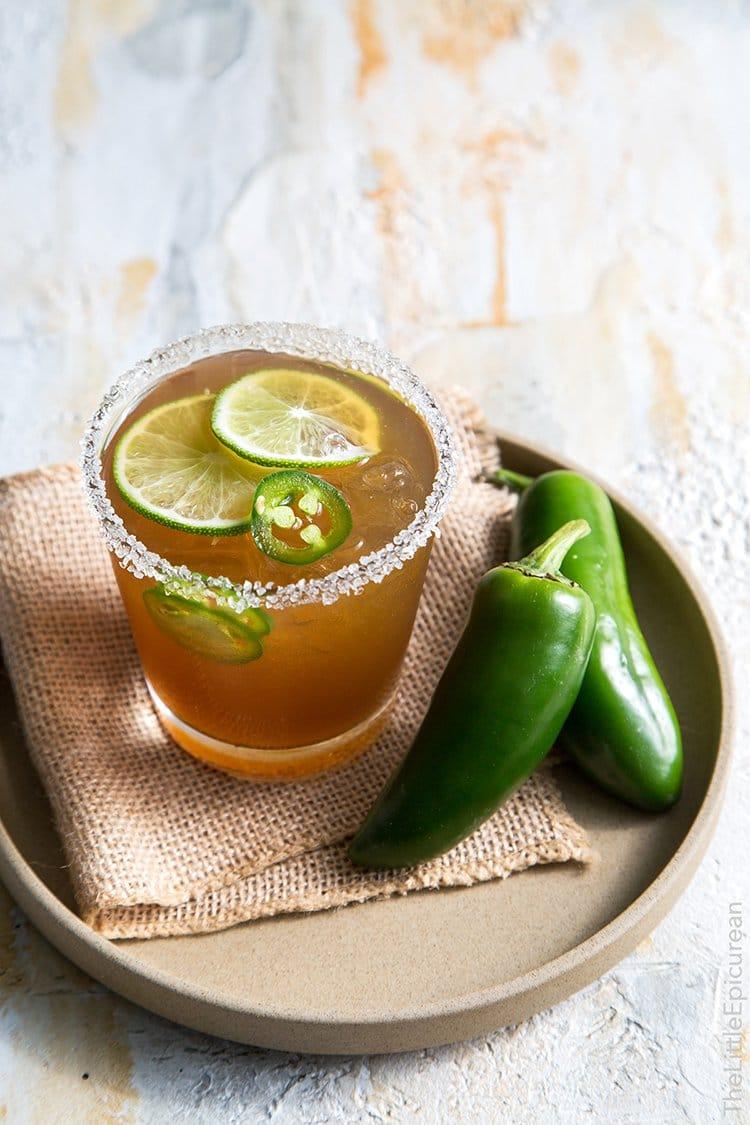 Spicy Jalapeno Margarita | The Little Epicurean