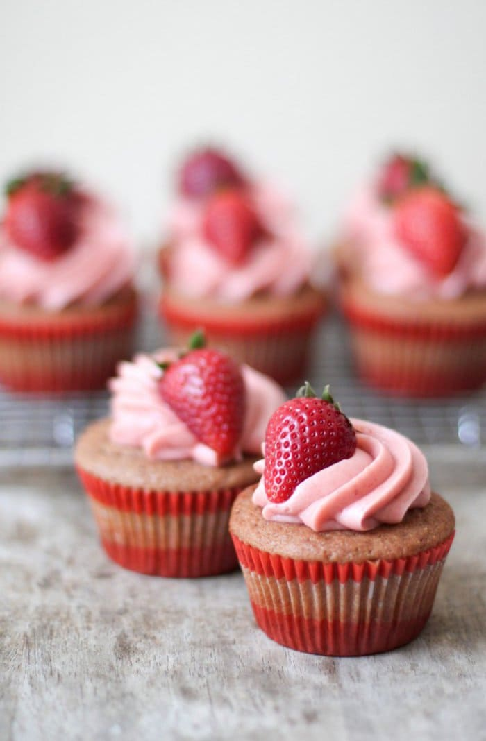 Strawberry Cupcakes   The Little Epicurean