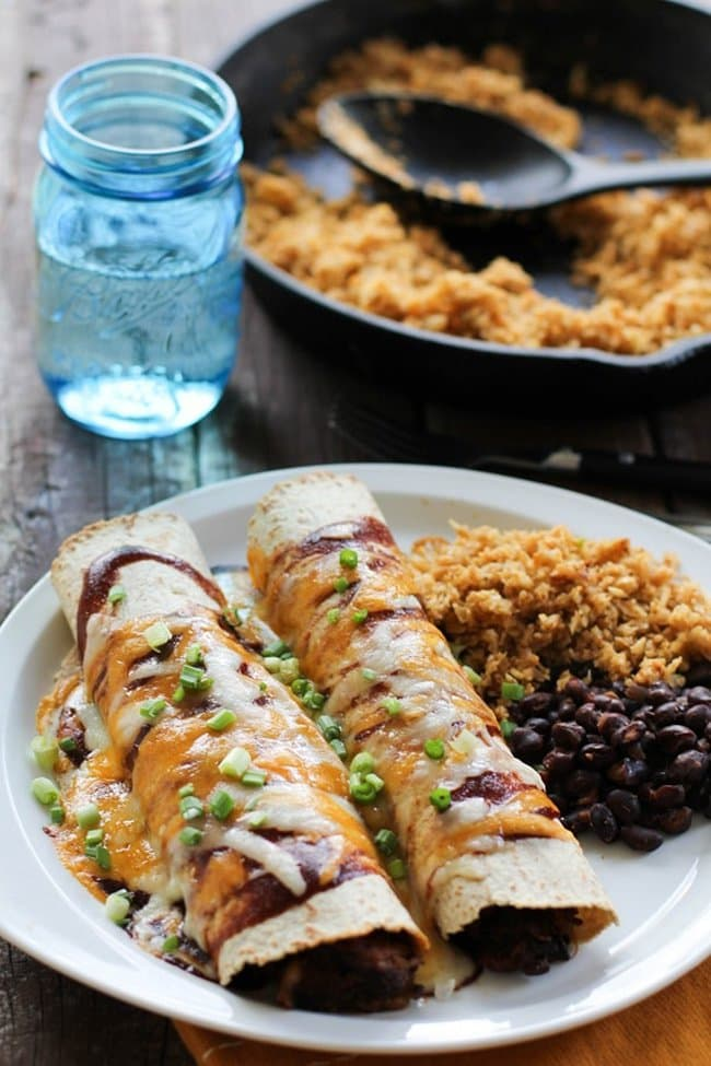 BBQ Pulled Pork Enchiladas | The Roasted Root