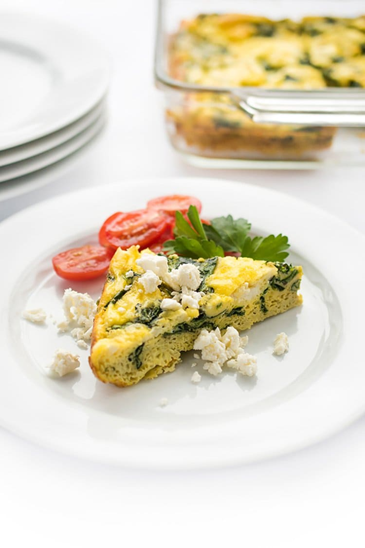 Spinach and Feta Greek Egg Bake | The Lemon Bowl