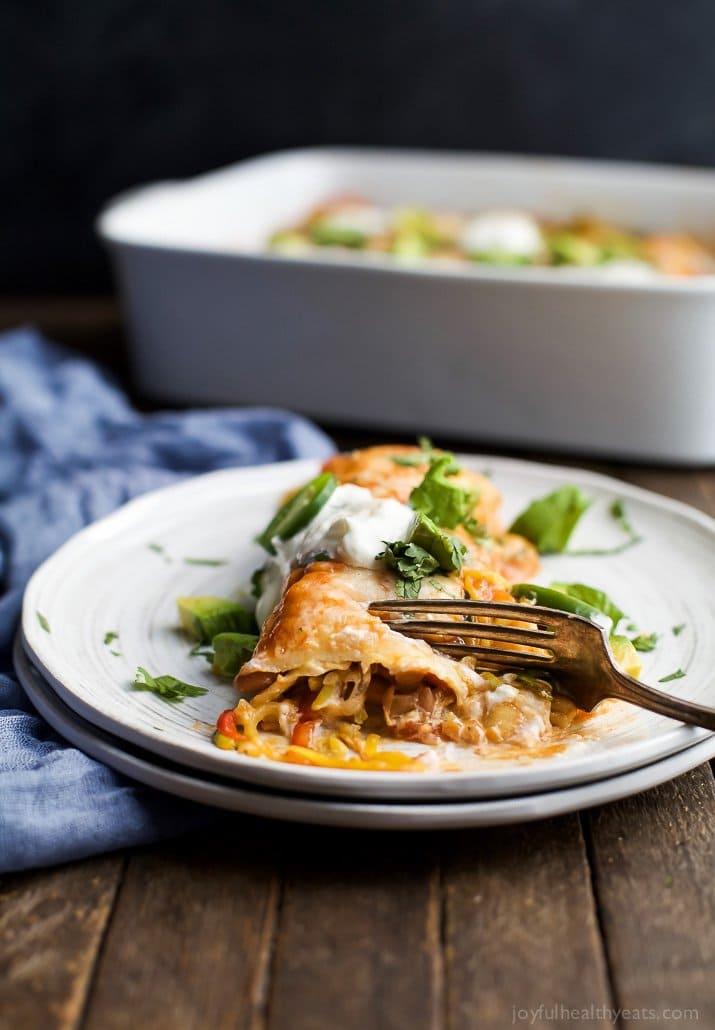 Inspiralized Vegetable Enchiladas | Joyful Healthy Eats