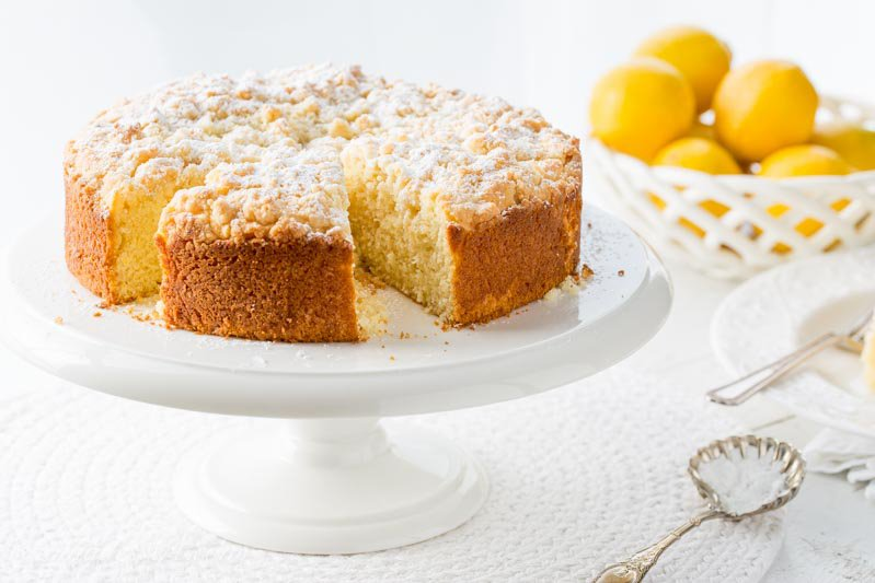 Lemon Crumble Breakfast Cake | Saving Room for Dessert