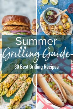 Summer is here, which means it's grilling season! I've gathered some fun Summer Grilling Ideas to share with you guys so you're prepared to make the most of the season. This guide is filled with the Best Grill Recipes, along with some summer grilling essentials and tips!