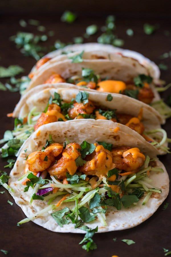 Chipotle Shrimp Tacos | Nutmeg Nanny