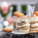 These Easy Tiramisu Cups are made with a secret ingredient, vanilla wafers! These desserts made with Nilla Wafers dipped in coffee, then layered with mascarpone mousse and topped with cocoa powder, make for the cutest mini treats, just begging to make an appearance at your next BBQ!