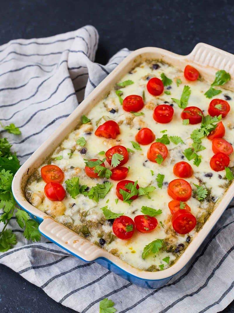 Green Chile Chicken Quinoa Bake | Rachel Cooks