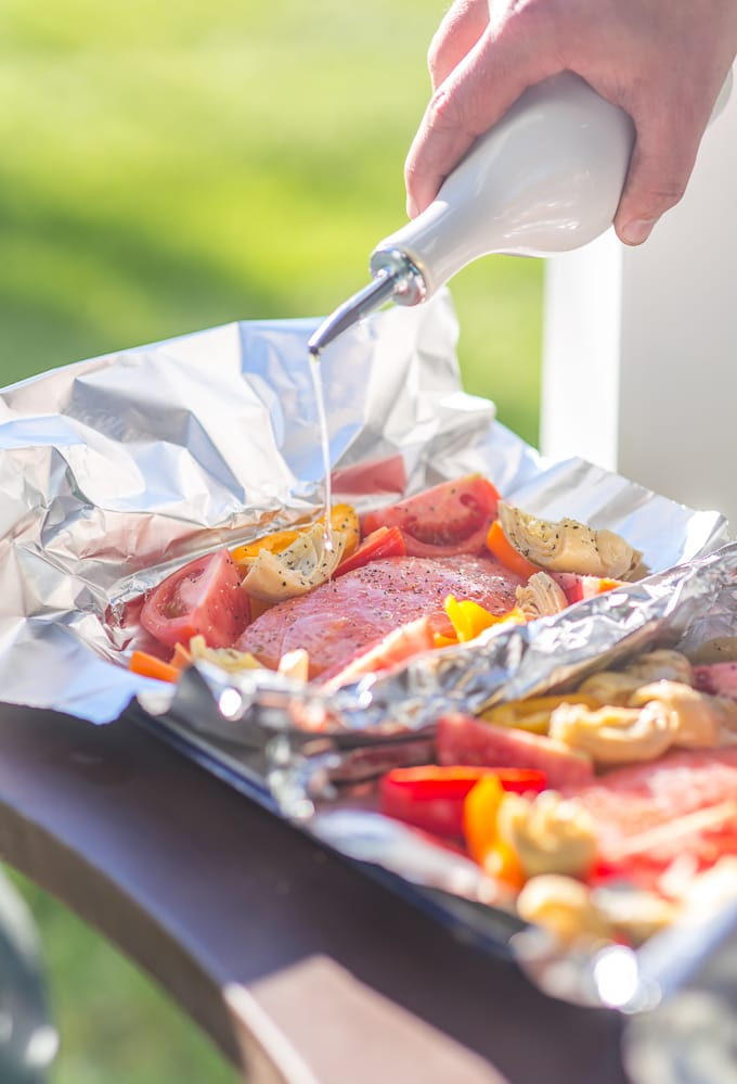 Grilled caesar salmon foil packets the cookie rookie recipe image ccuart Gallery