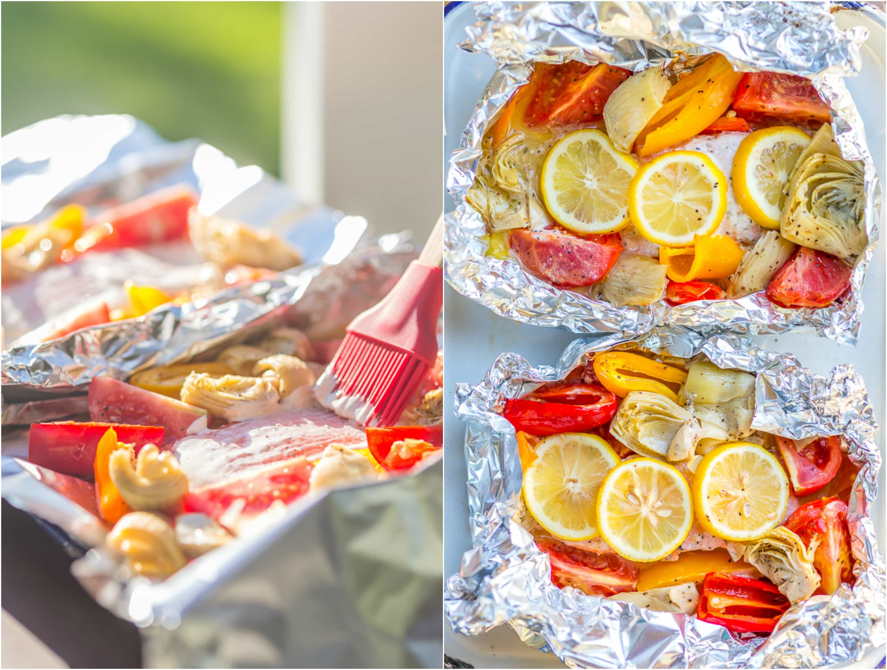 How to grill salmon in foil packets