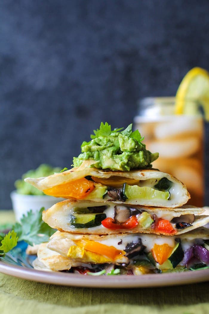 Grilled Portobello and Summer Squash Quesadillas | The Roasted Root