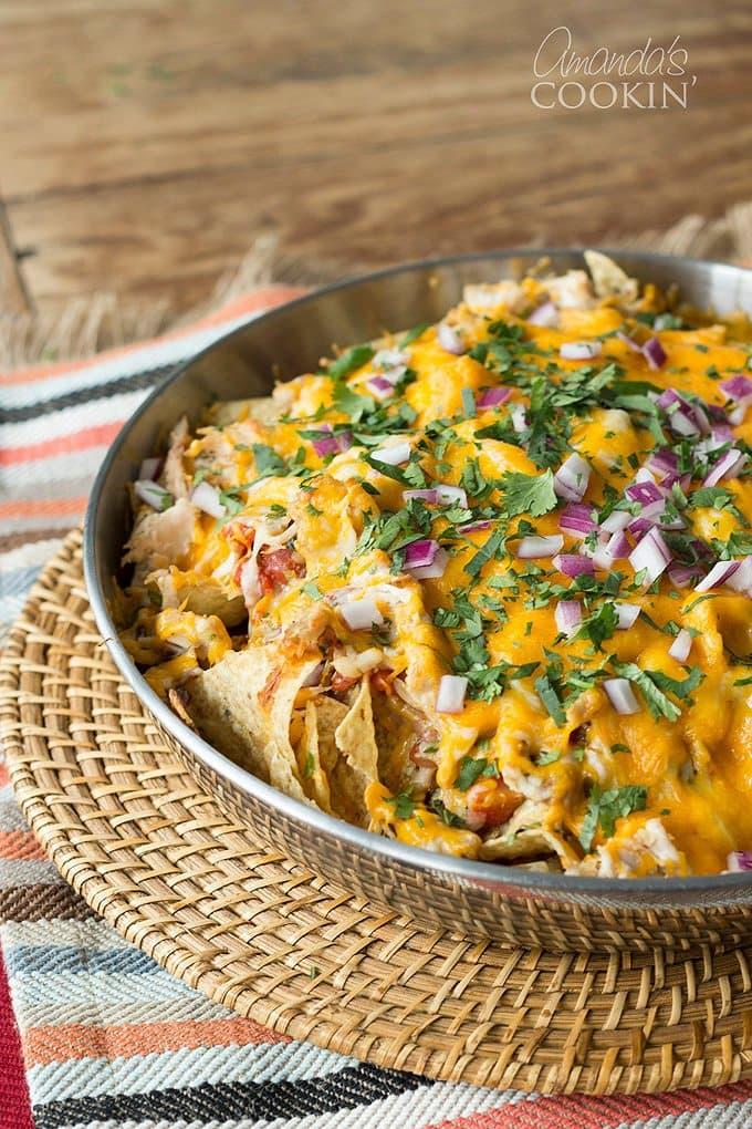 Rotisserie Chicken Nachos | Amanda's Cookin'