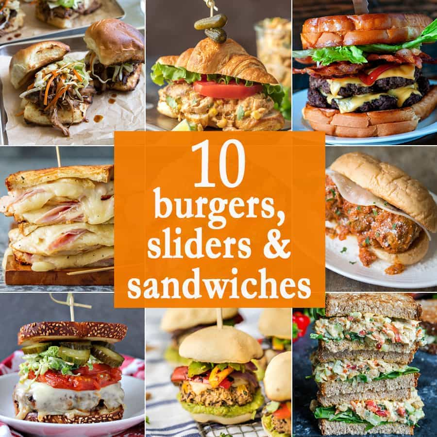 10 Burgers, Sliders, and Sandwiches