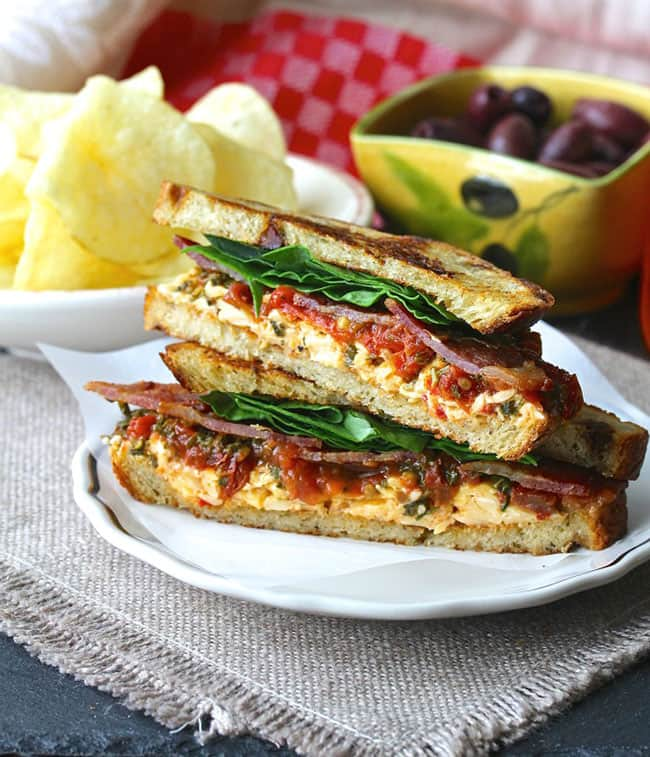 BLT Sandwich with Roasted Pimento Cheese and Tomato Marmalade | Karen's Kitchen Stories