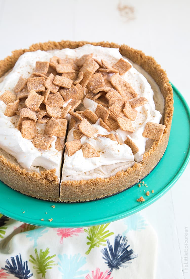 Cinnamon Toast Crunch Ice Cream Pie | The Little Epicurean