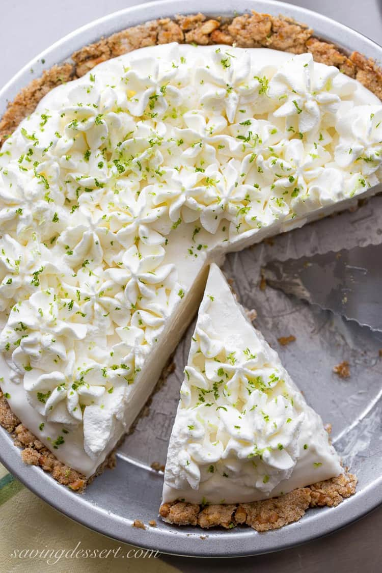 Frozen Margarita Pie | Saving Room for Dessert
