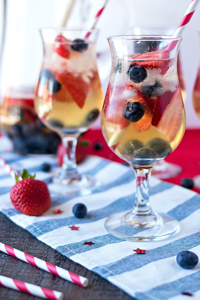 Red, White, and Blue Sangria | Certified Pastry Aficionado