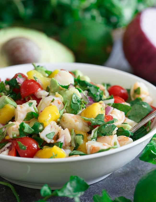 Shrimp Avocado Mango Lime Salad   Running to the Kitchen
