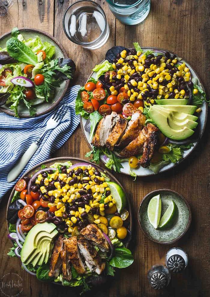 Southwest Chicken Salad with Cilantro Lime Dressing   Noshtastic