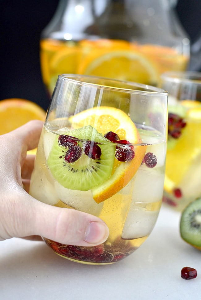 Champagne Sangria Punch | Iowa Girl Eats