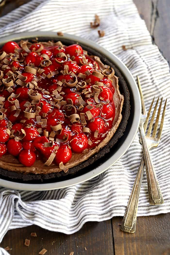 Black Forest No Bake Cheesecake   Melanie Makes