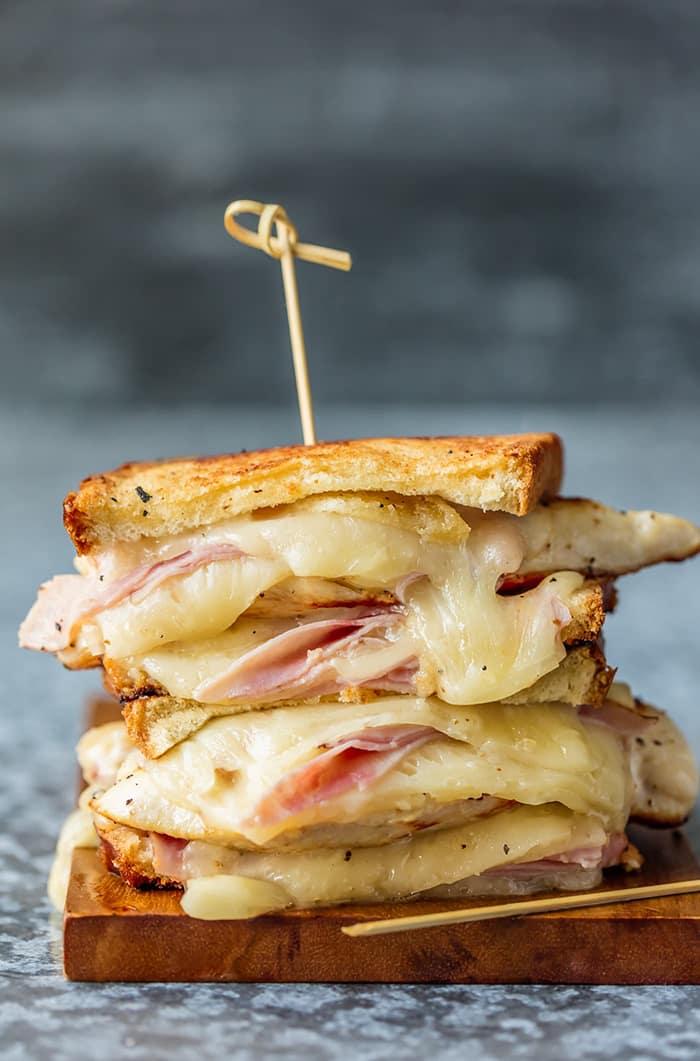 Grilled Chicken Cordon Bleu Sandwiches | The Cookie Rookie