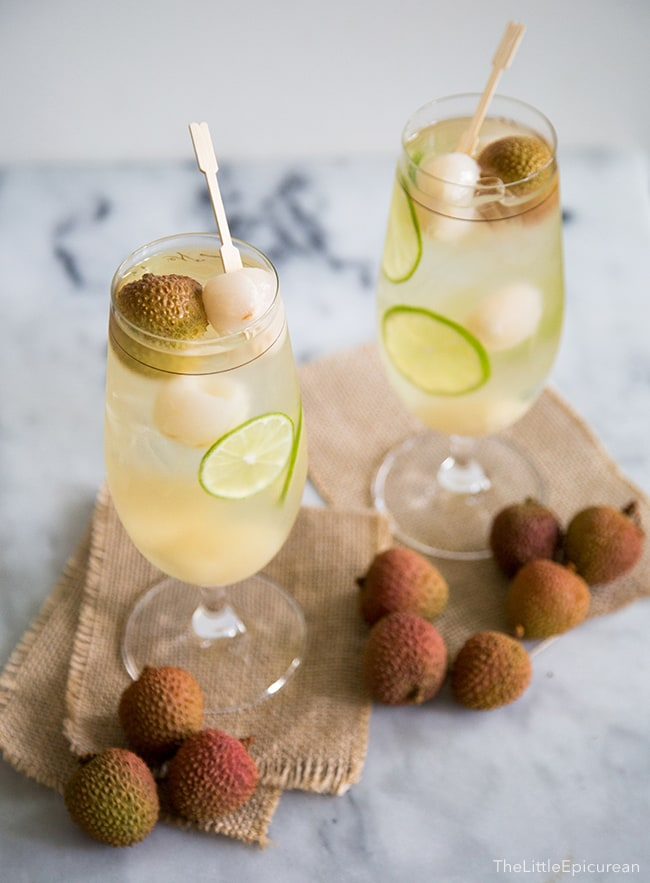 Lychee Sangria | The Little Epicurean
