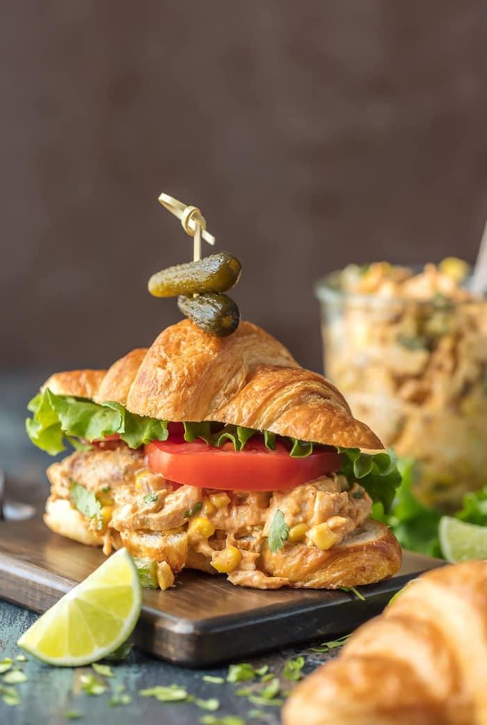 Mexican Chicken Salad Sandwich | The Cookie Rookie