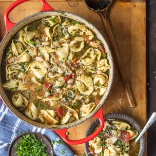 Pesto Chicken Tortellini Soup