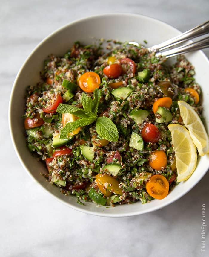 Quinoa Tabbouleh   The Little Epicurean