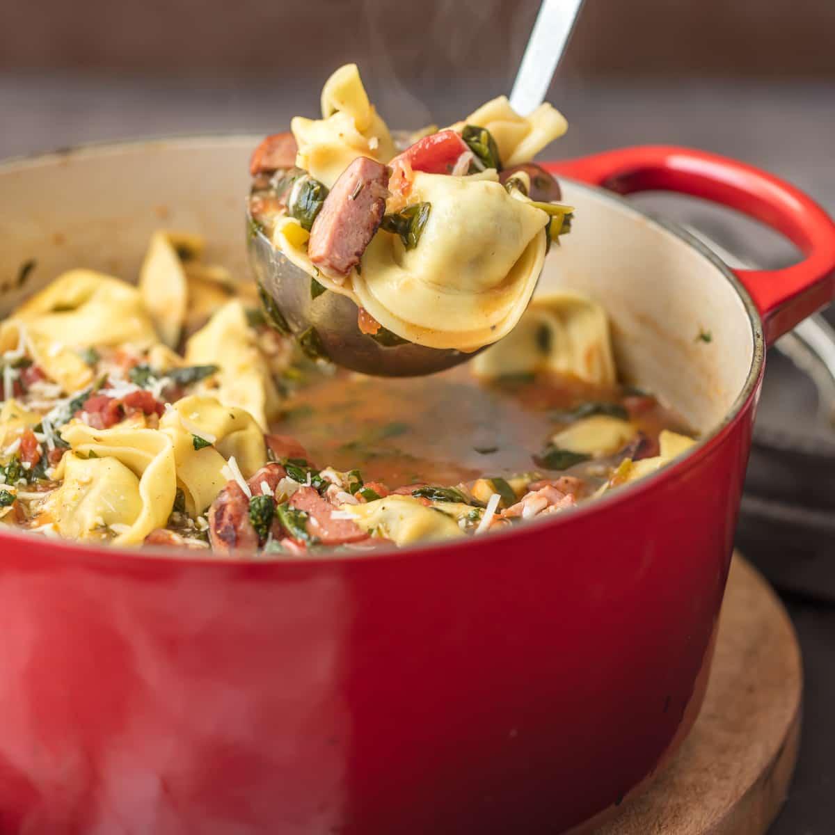 Sausage Tortellini Soup Sweet Italian Sausage Recipe Video
