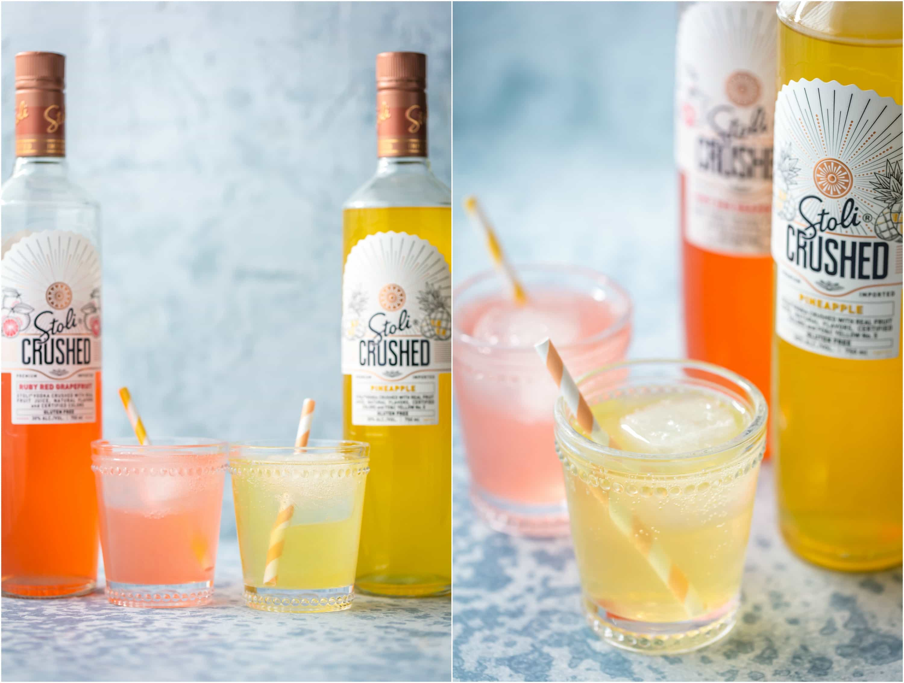 SALTY DOG SANGRIA is the ultimate refreshing Summer cocktail! Grapefruit vodka, juice, rose, club soda, and simple syrup come together in one refreshing and beautiful sip.