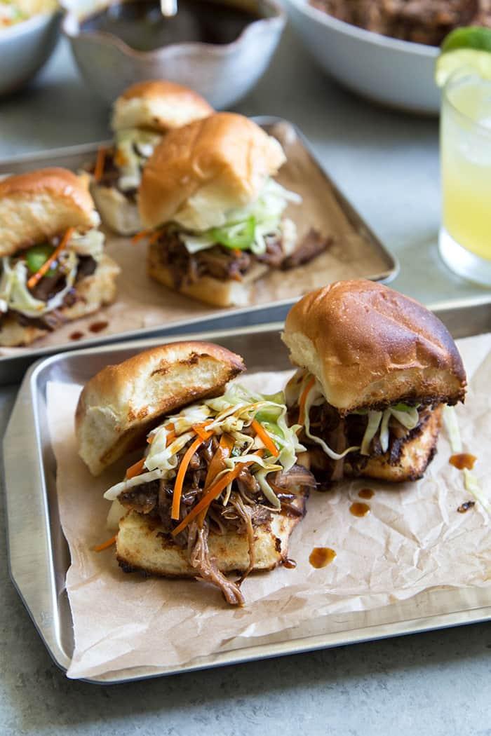Slow Cooker Shoyu Pulled Pork Sliders | The Little Epicurean