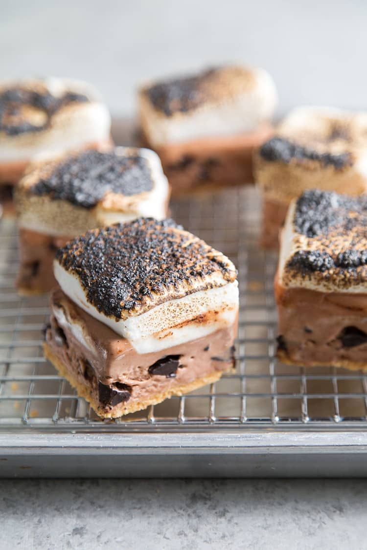 S'mores Ice Cream Bars | The Little Epicurean