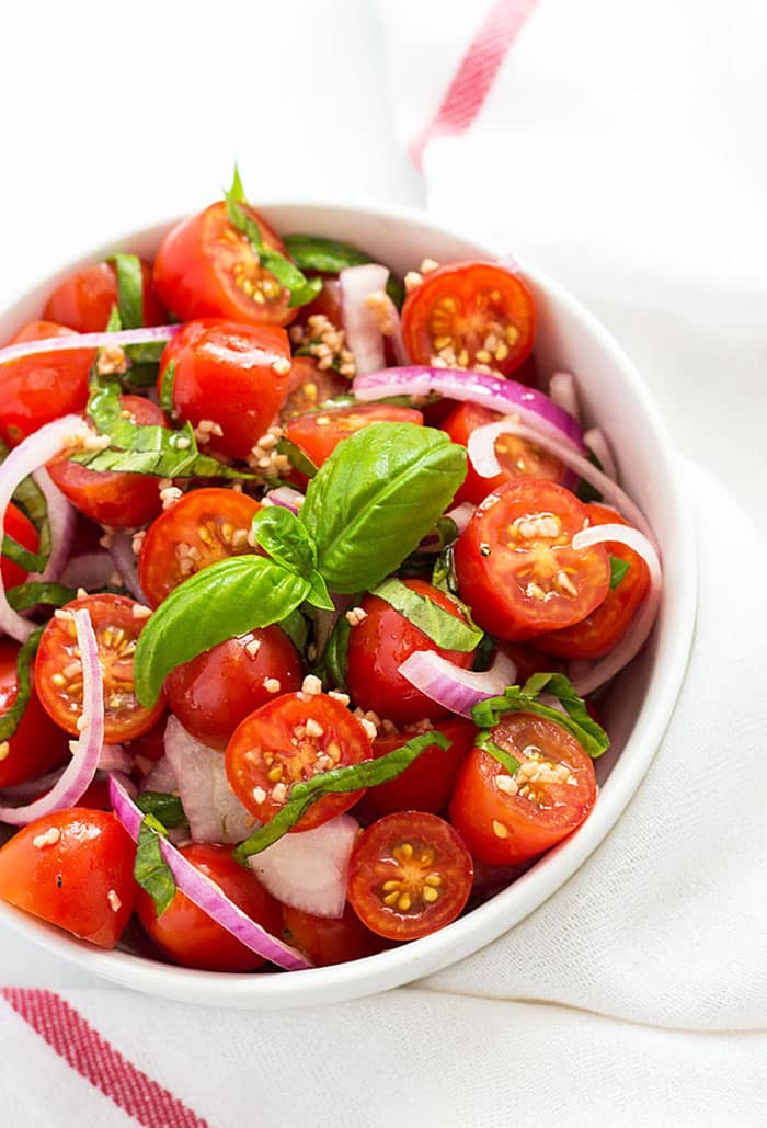 Tomato, Basil, and Red Onion Salad   The Blond Cook