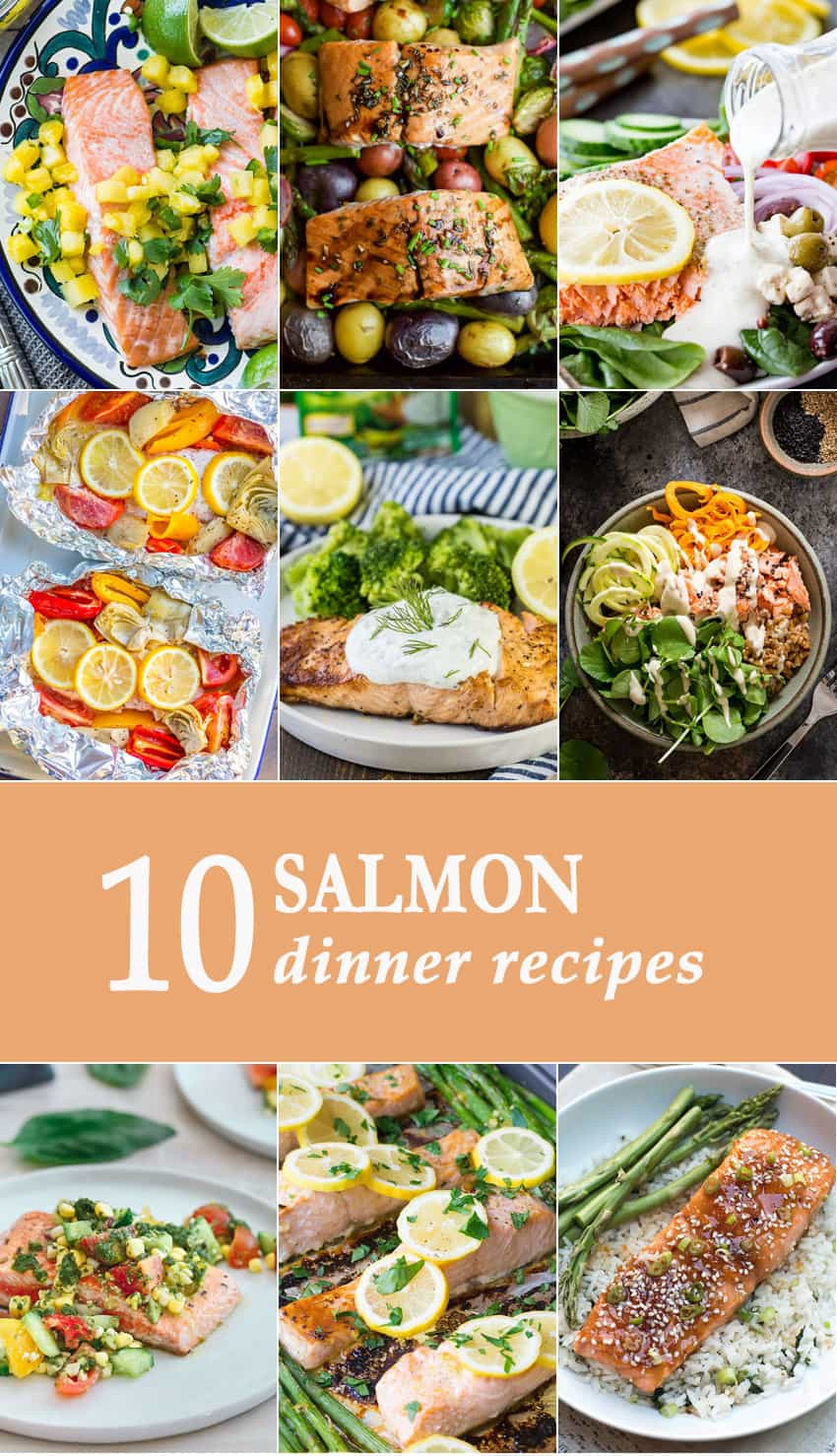 10 Salmon Dinners | The Cookie Rookie