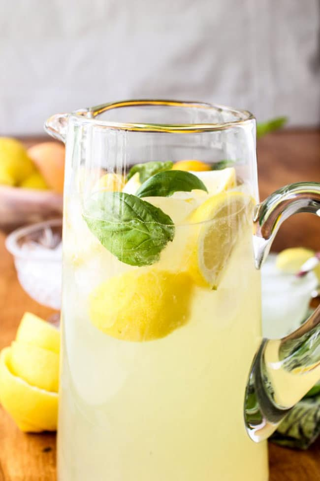 Basil Lemonade | The Food Charlatan