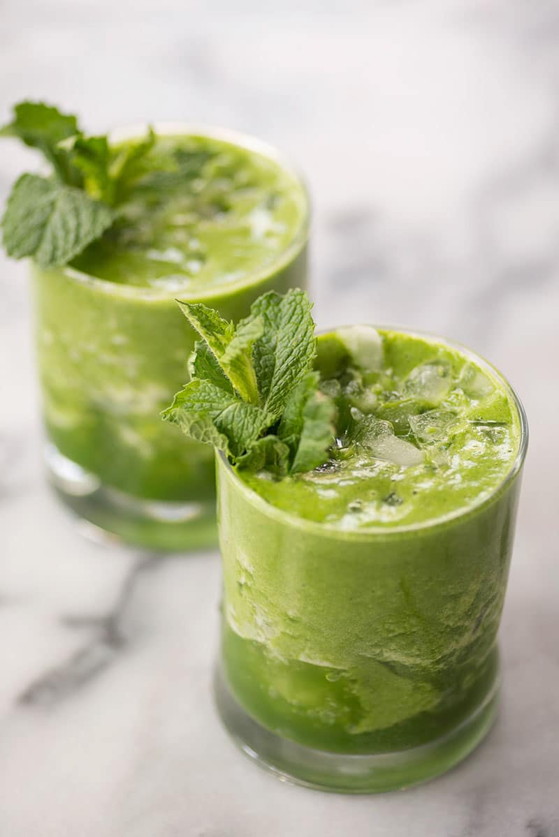 Pineapple Mint Green Drink | Delish Knowledge