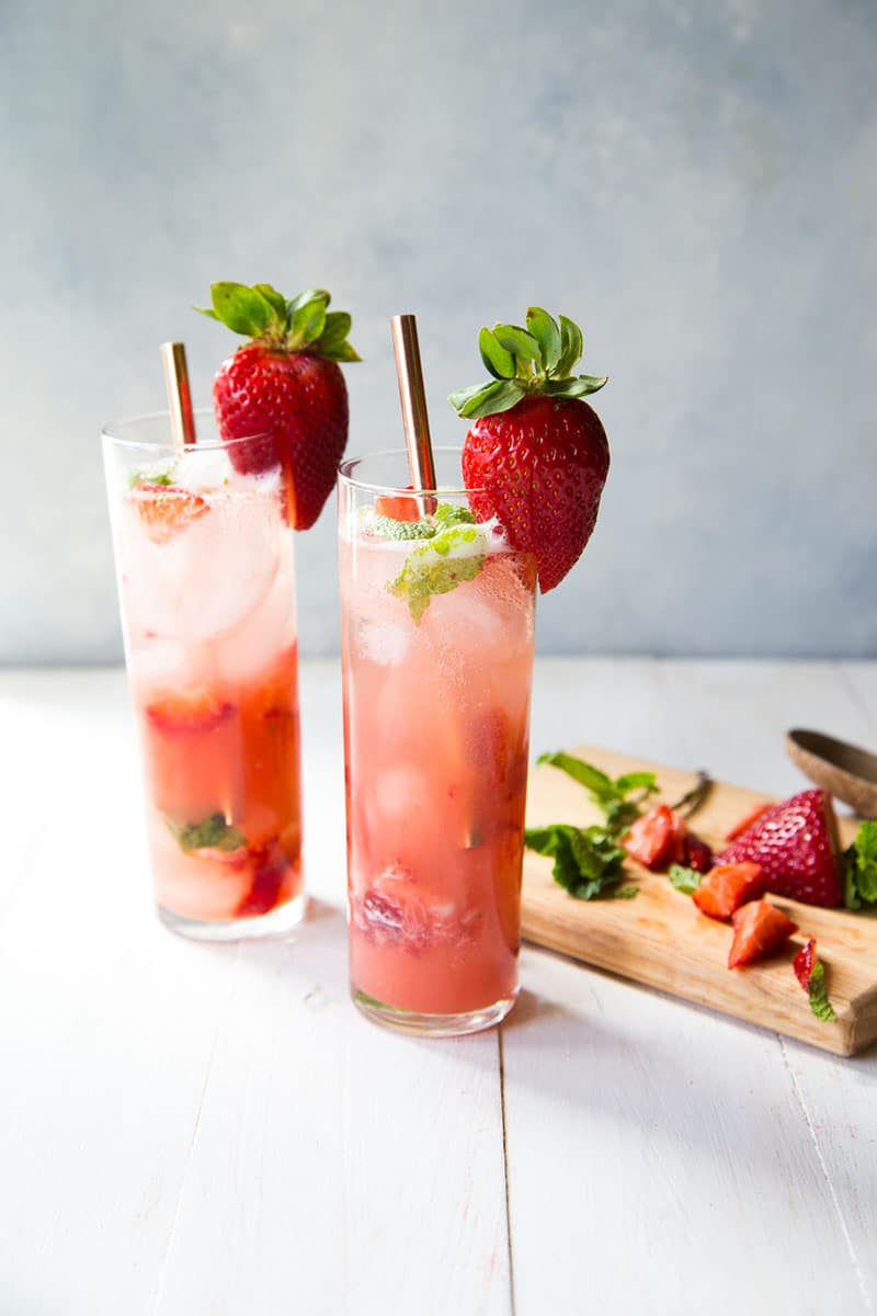Strawberry Guava Mint Agua Fresca | Country Cleaver