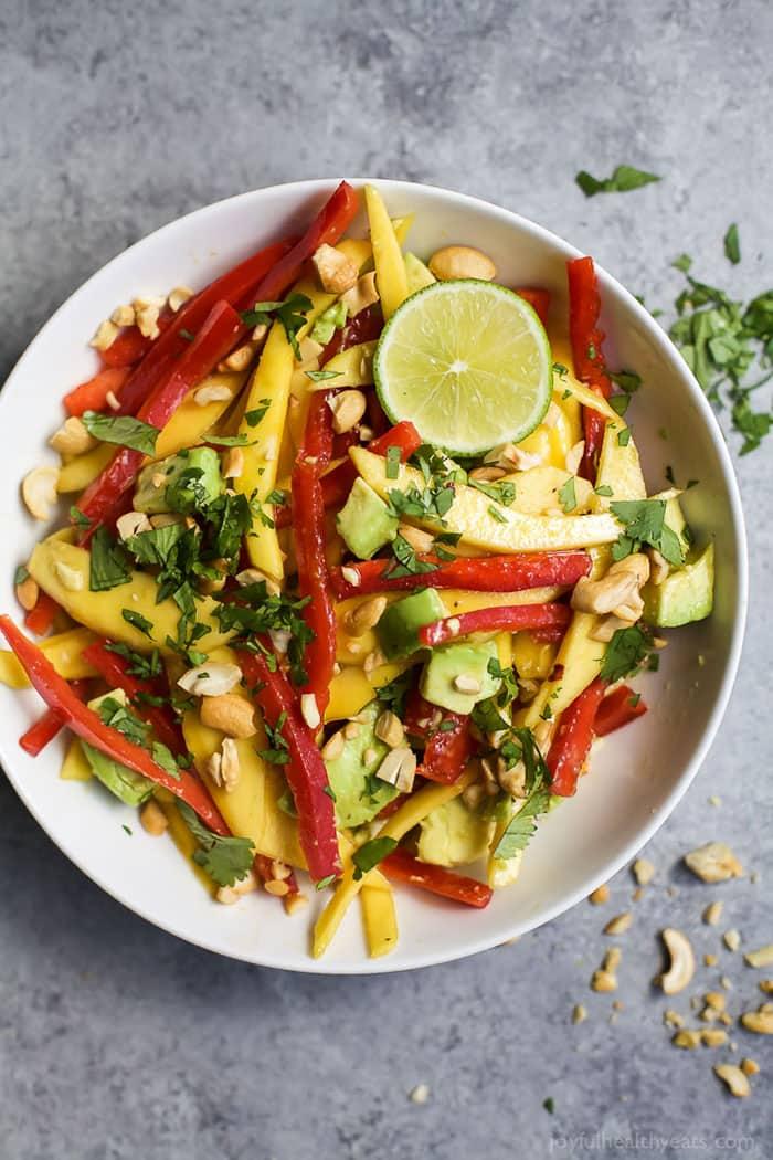 Thai Mango Avocado Salad | Joyful Healthy Eats