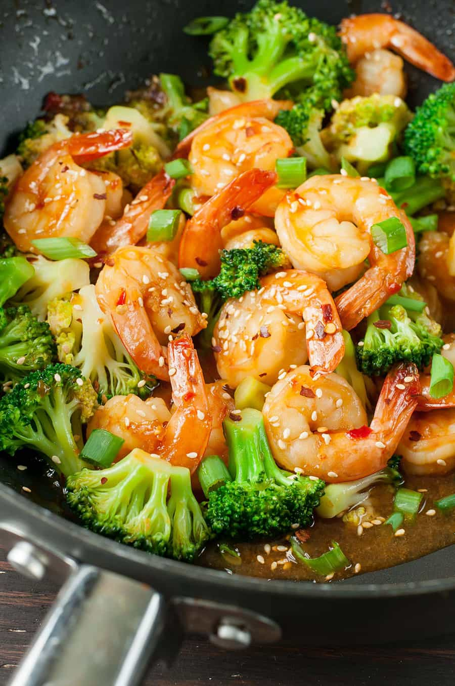 Szechuan Shrimp and Broccoli | Peas and Crayons