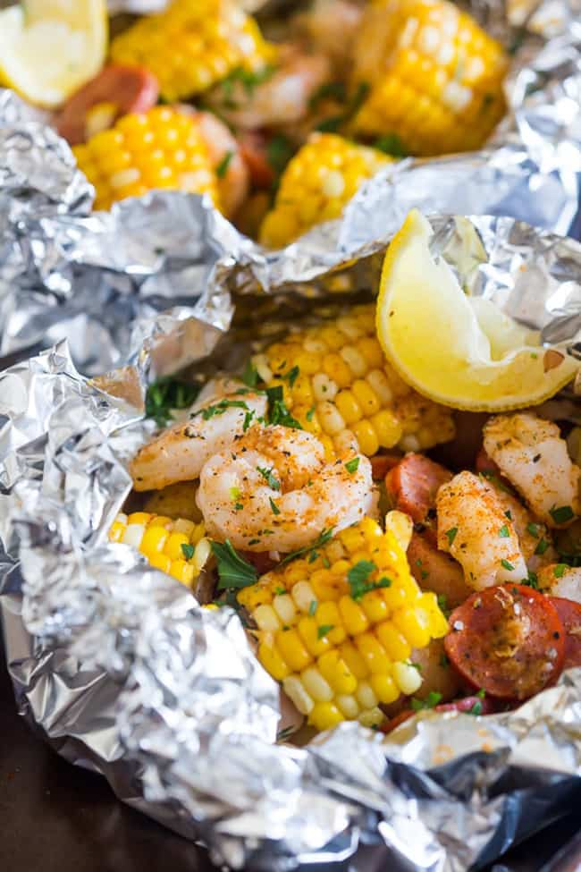 Low Country Boil Foil Packets | Nutmeg Nanny
