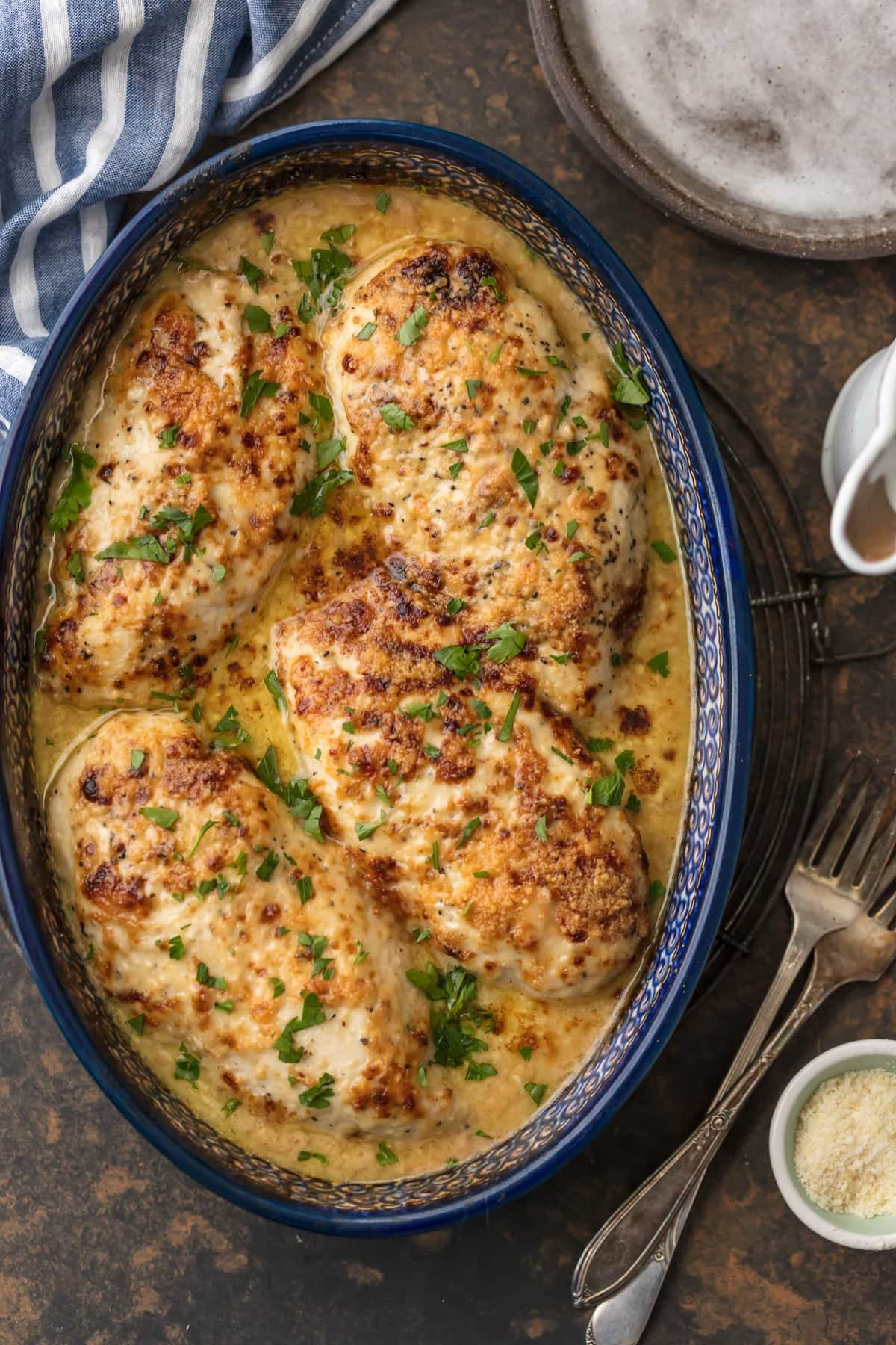 baked chicken in a creamy sauce