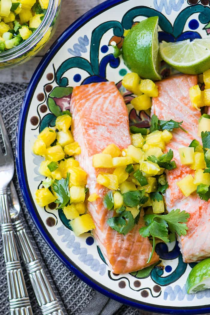Salmon with Pineapple Jalapeno Salsa | The View From Great Island