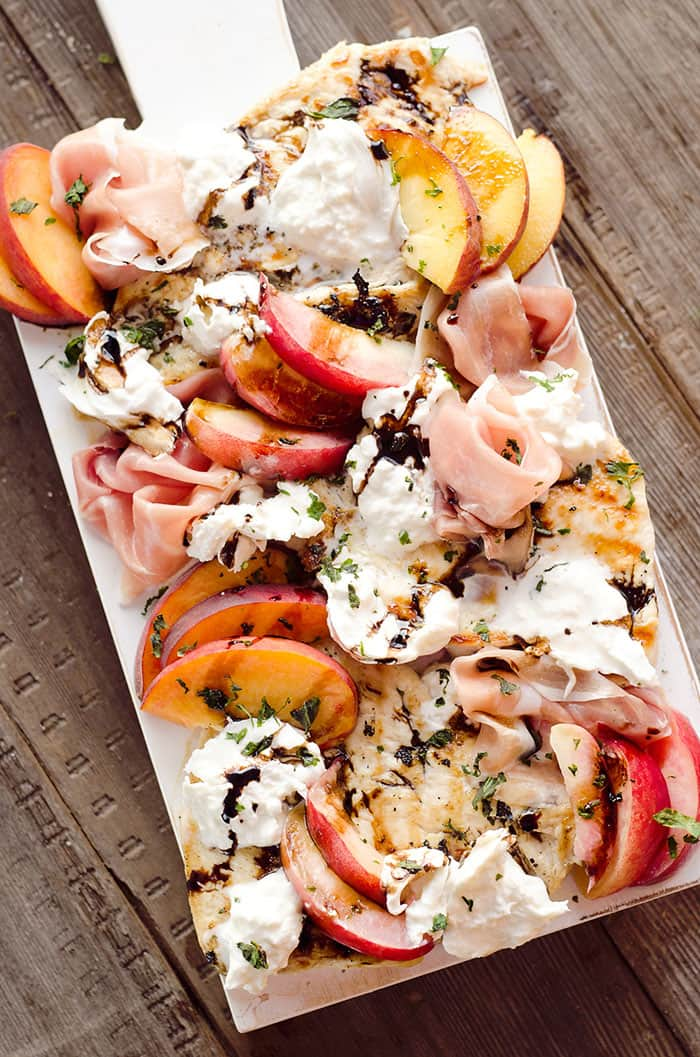 Balsamic Chicken with Peaches and Prosciutto | The Creative Bite Grilled Chicken Recipes are the perfect solution to any busy  weeknight. If your family is like ours, everyone is happy when we have grilled chicken breast recipes on the table. These easy, unique, and creative ways to grill chicken breast are our go-to favorites for feeding our family!