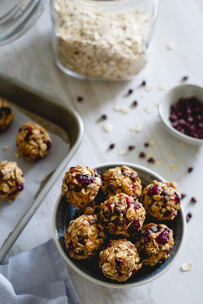 Cranberry Orange Oatmeal Cookie Bites | Running to the Kitchen