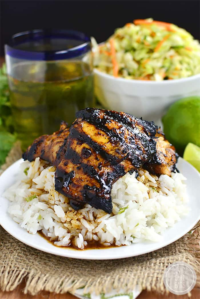 Grilled Chili Honey Lime Chicken Thighs | Iowa Girl Eats Grilled Chicken Recipes are the perfect solution to any busy  weeknight. If your family is like ours, everyone is happy when we have grilled chicken breast recipes on the table. These easy, unique, and creative ways to grill chicken breast are our go-to favorites for feeding our family!