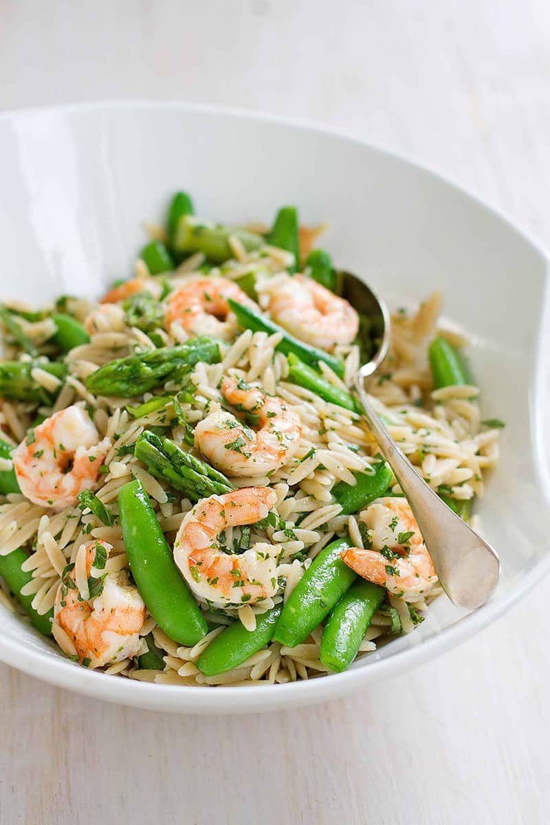 Primavera Pasta Salad with Shrimp | Cookin Canuck